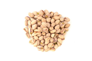 pistachios on isolated white background