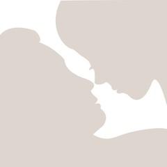 silhouette eines Liebespaares