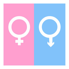 Vector gender symbol icons illustration