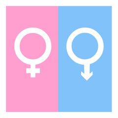 Vector gender symbol icons illustration