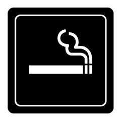 Smoking area labels vector