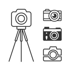 Photo camera icons set for web and info-graphics