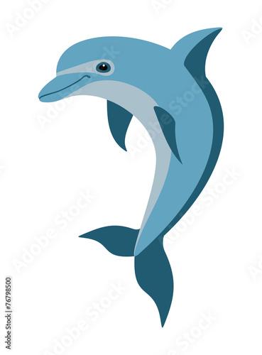 cartoon dolphin - 76798500