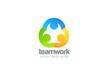 Social Logo design vector template. Teamwork logotype