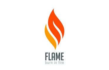 Fire flame Logo design luxury vector template