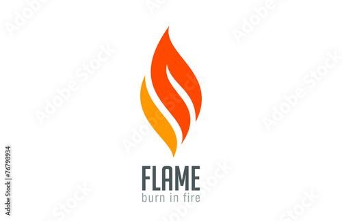 Zdjęcia na płótnie, fototapety, obrazy : Fire flame Logo design luxury vector template