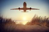 Airplane Travel Destination Outdoors Concept
