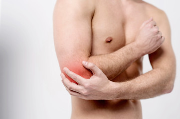 Man has elbow contusion