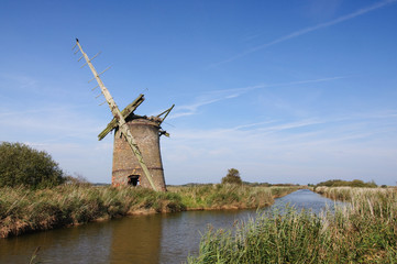 Derelict Windmill Norfolk Broads
