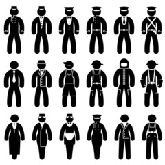 icons of people in uniforms