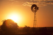 Windmill in the outback of Queensland - 76800964