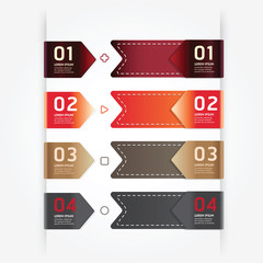 Modern design button tag blank rectangle labels set .