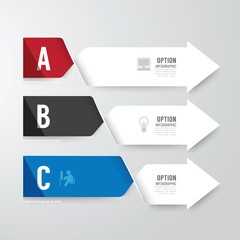 Modern infographics design options banner. Vector illustration.
