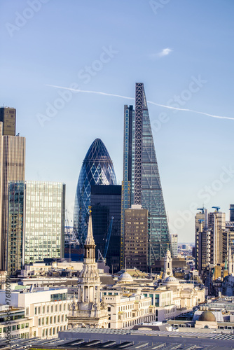 Plexiglas Luchtfoto Beautiful london skyline