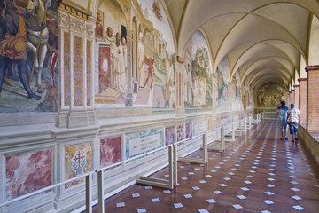 Monte Oliveto Abbey in Tuscany