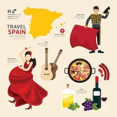 Travel Concept Mexico Landmark Flat Icons Design .Vector