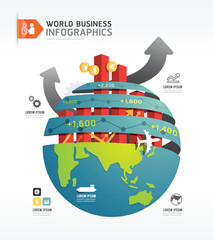 Business world infographic concept design template.vector