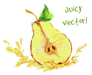 drawing slice of pear