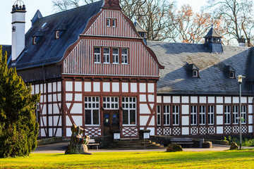 Stadtbibliothek im Fachwerkhaus in Bad Nauheim