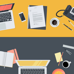 Flat concepts for online education, staff training, courses