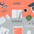 Set of flat design illustration concept for education