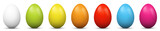 Fototapety Ostereier, Eier, Ostern, nebeneinander, farbig, bunt, gefärbte