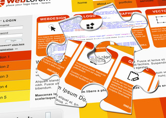 Webdesign, Puzzel, Puzzelteil, Puzzelstück, Design, Lösung, Teil