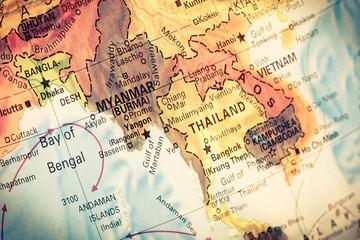 Map Myanmar and Burma,