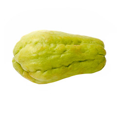 fresh Chayote vegetables isolated on white background