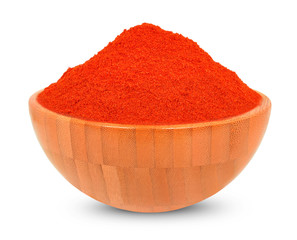 paprika a  bowl  isolated