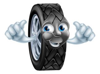 Cartoon tire mascot