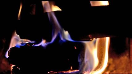 Kaminfeuer Aeste