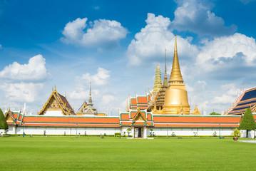 Wat Phra Kaew, Temple of the Emerald Buddha, Bangkok, Thailand.