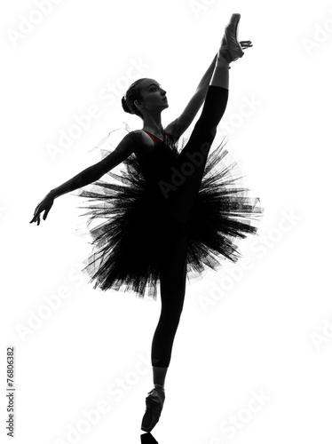 Fotobehang Dance School young woman ballerina ballet dancer dancing silhouette
