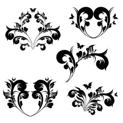 art deco swirls