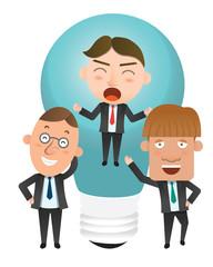 Business corporation idea concept flat character