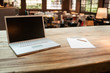 Laptop at the coffee shop - 76807719