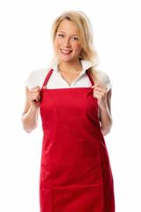 Hausfrau mit Schürze