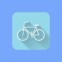 Bicycle flat design icon. Vector illustration EPS.