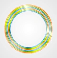 Bright circle logo background