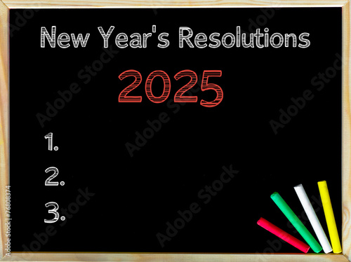 Poster New Years Resolutions 2025