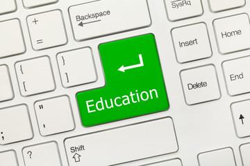 White conceptual keyboard - Education (green key)