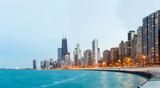 Chicago Panorama Lake Michigan poster