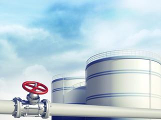 Oil industrial storages