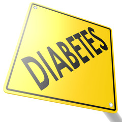 Road sign with diabetes