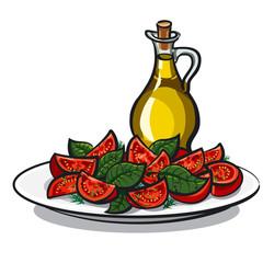 salad with basil