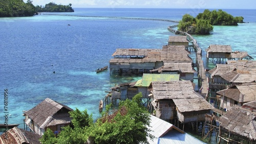 Fotobehang Indonesië bajo village, Togean Islands, Indonesia