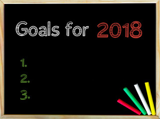 Goals for 2018