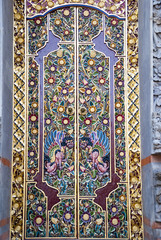 Decorated door to hindu temple, Bali, Indonesia