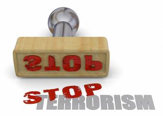 Stamp Stop Terrorism - 3D